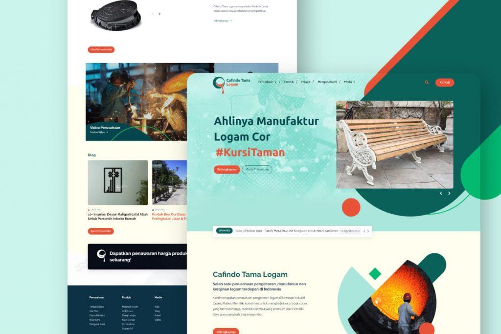 Website Manufaktur Logam Modern | Cafindotama.com by Grapiku